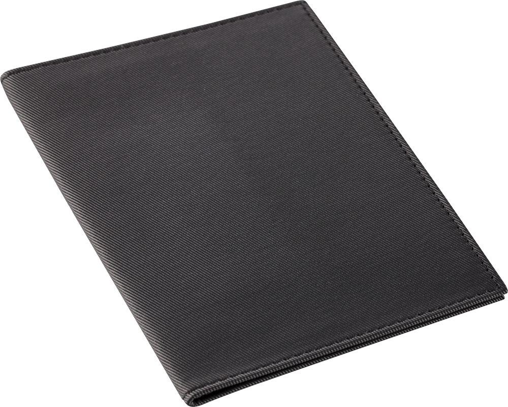 Обложка для паспорта Twill, черная, , полиуретан