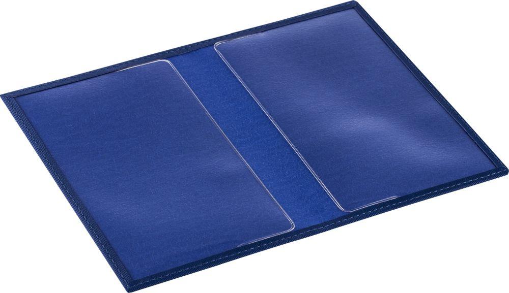 Обложка для паспорта Twill, синяя, , полиуретан