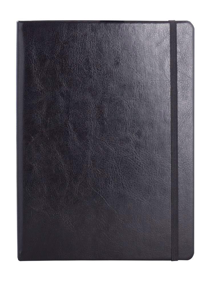 Блокнот Freenote, в клетку, черный, , искусственная кожа