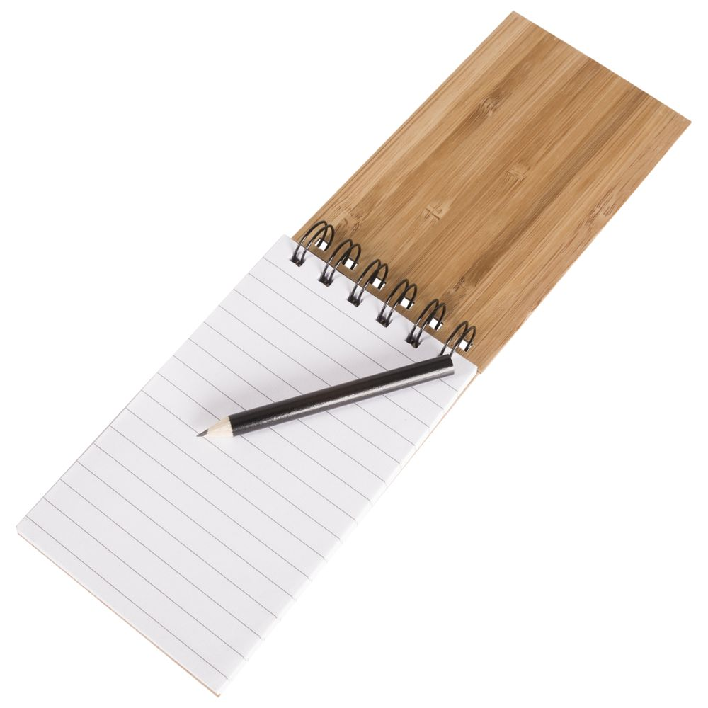 Блокнот на кольцах Bamboo Simple, , дерево, бамбук
