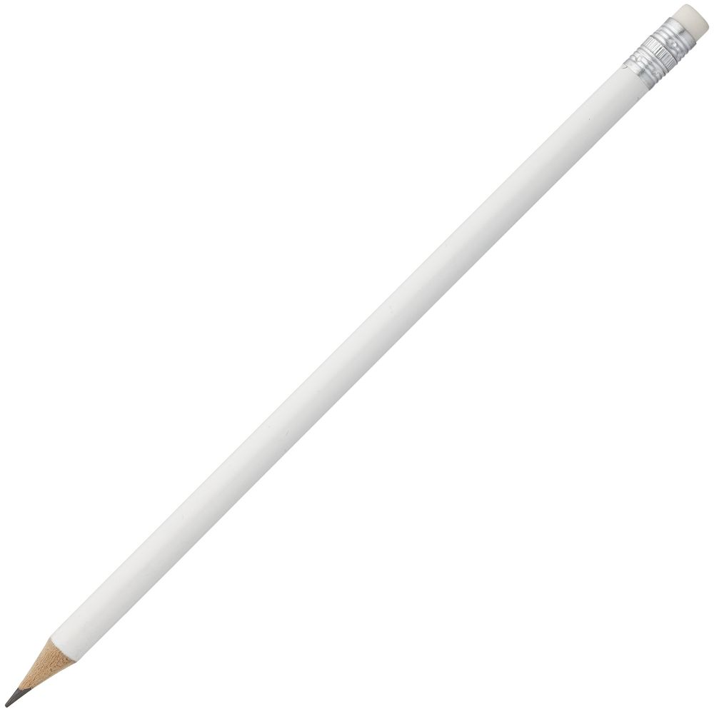 Карандаш простой Hand Friend с ластиком, белый, , дерево