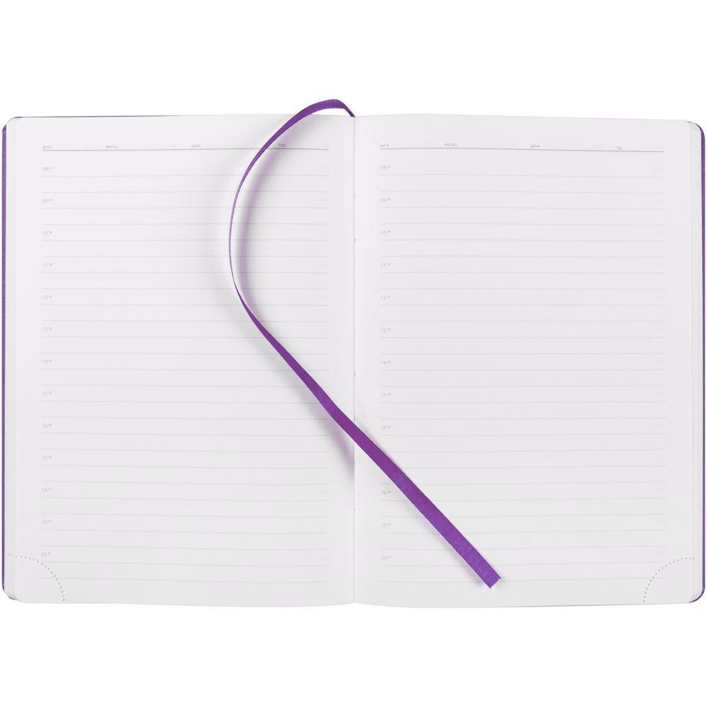 Ежедневник New Brand, недатированный, фиолетовый, фиолетовый, искусственная кожа