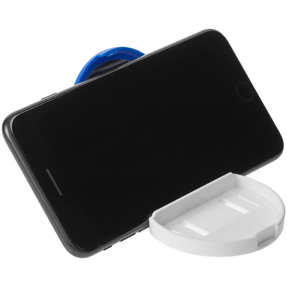 Зеркало с подставкой для телефона Self, синее, , пластик