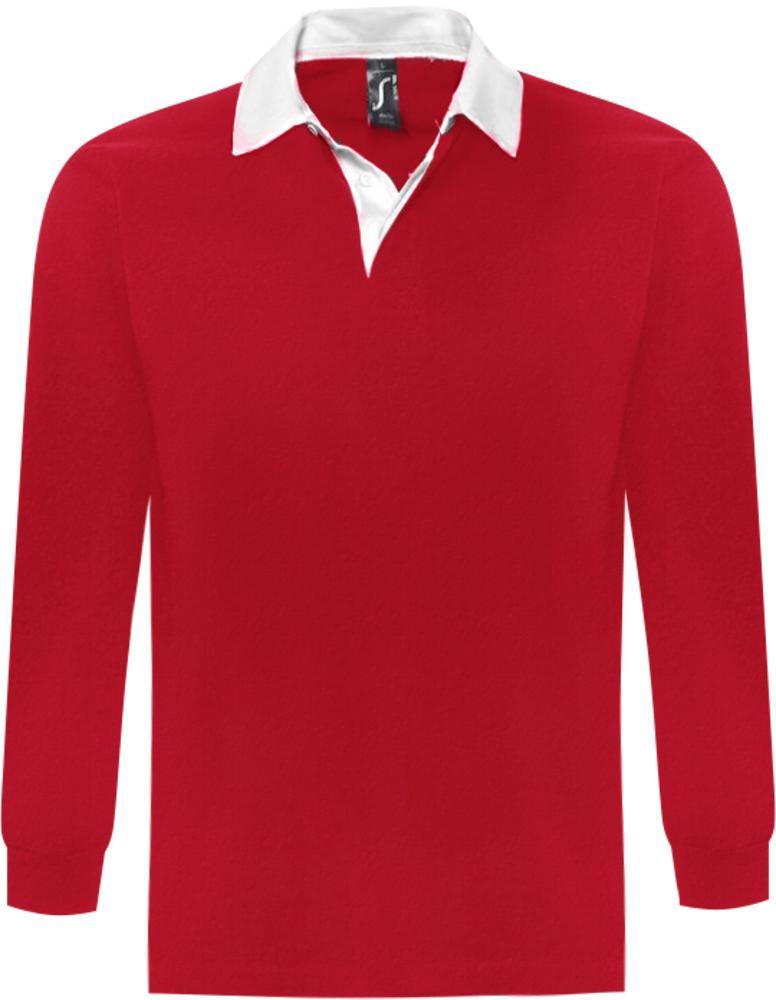 78f87300ff649 Рубашка поло мужская с длинным рукавом PACK 280 красная, красный, хлопок  100%, плотность 280 г/м²; джерси