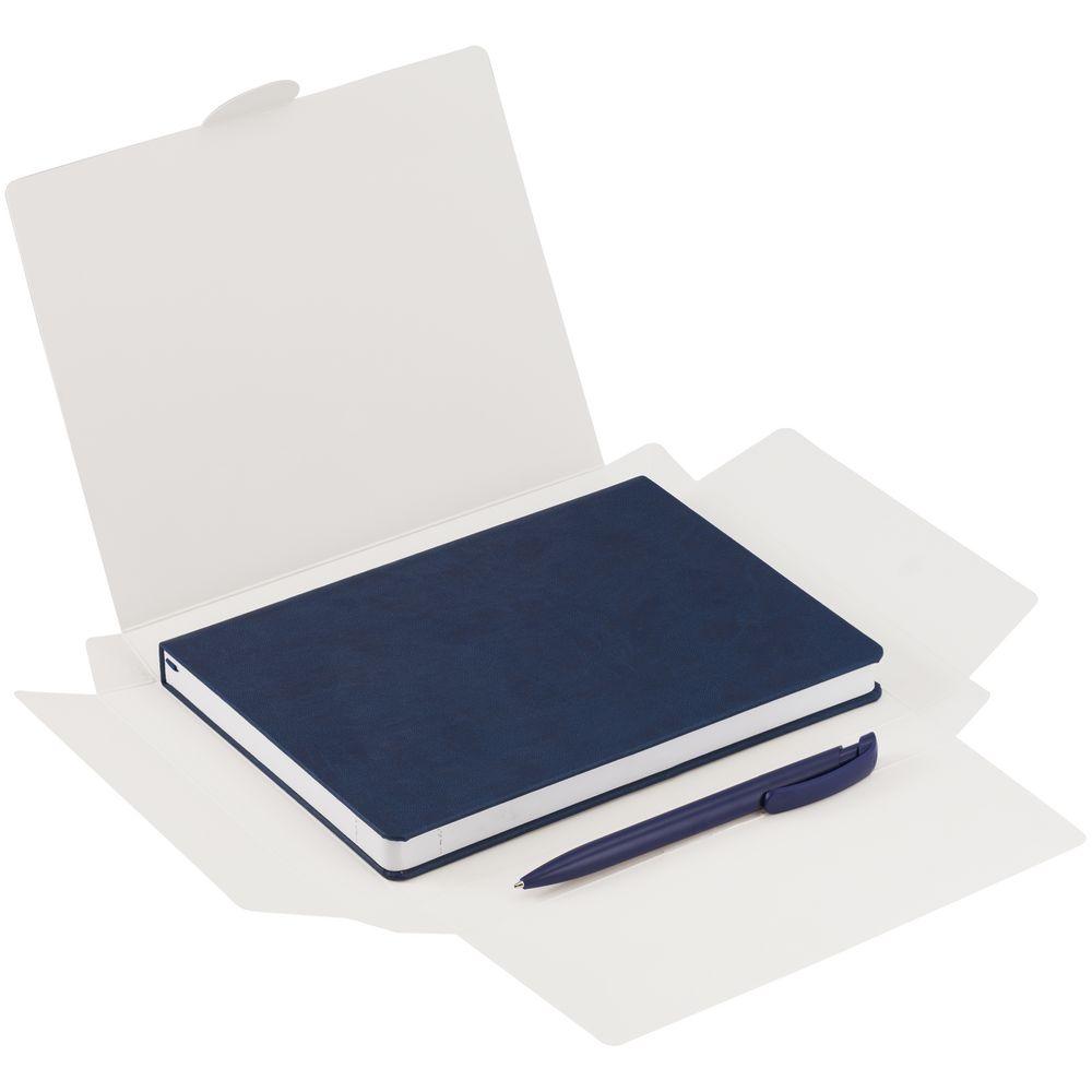 Набор New Brand, синий, , ежедневник - искусственная кожа; ручка - пластик; коробка - картон