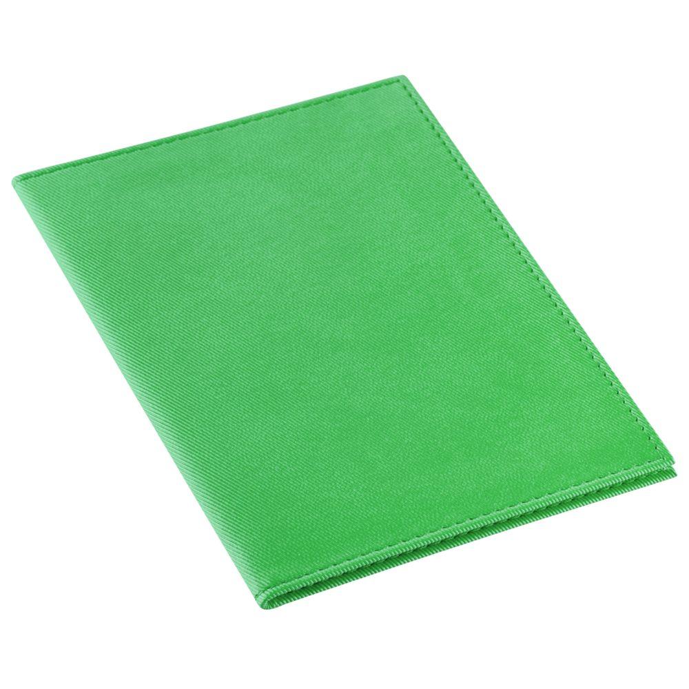 Обложка для паспорта Twill, зеленая, , полиуретан