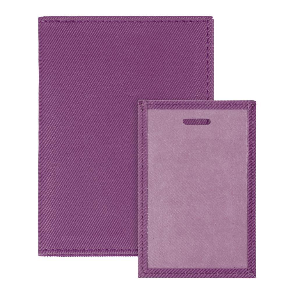 Обложка для паспорта Twill, сиреневая, , полиуретан