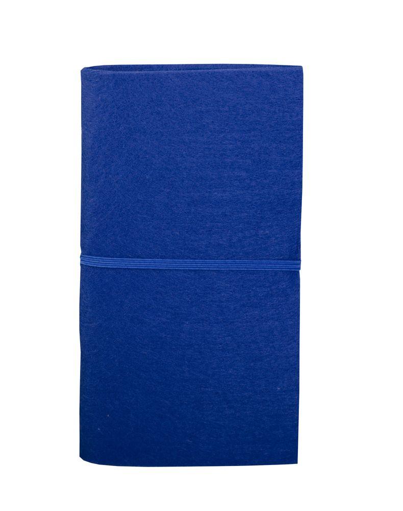 Блокнот Felt с ручкой, синий, , пластик; ручка - картон; блокнот - фетр