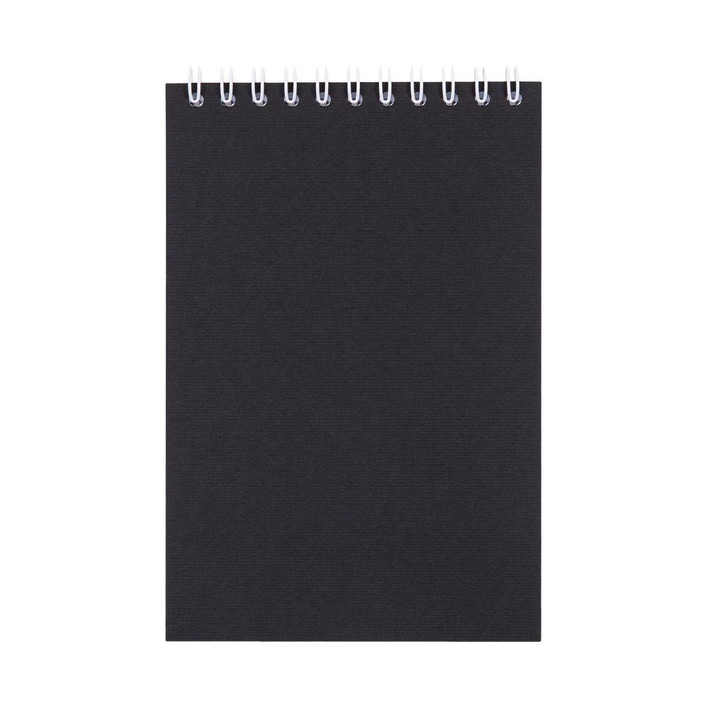 Блокнот Nettuno Mini в линейку, черный, черный, бумага