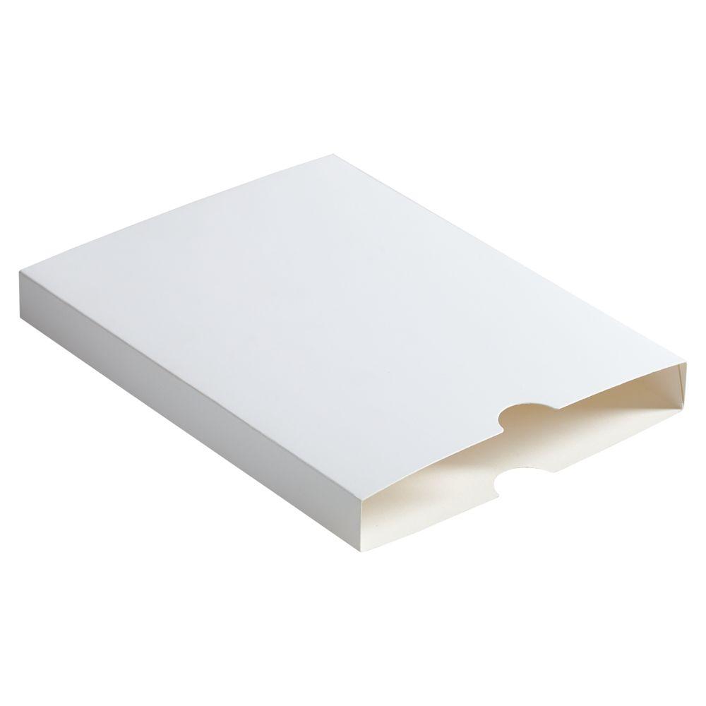 Шубер для ежедневника, белый, белый, картон