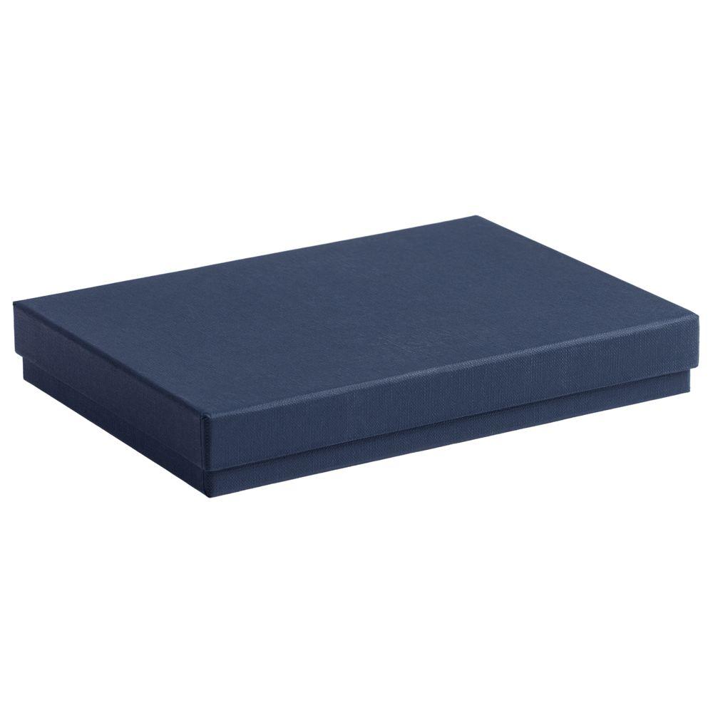 Коробка под ежедневник, синяя, , переплетный картон