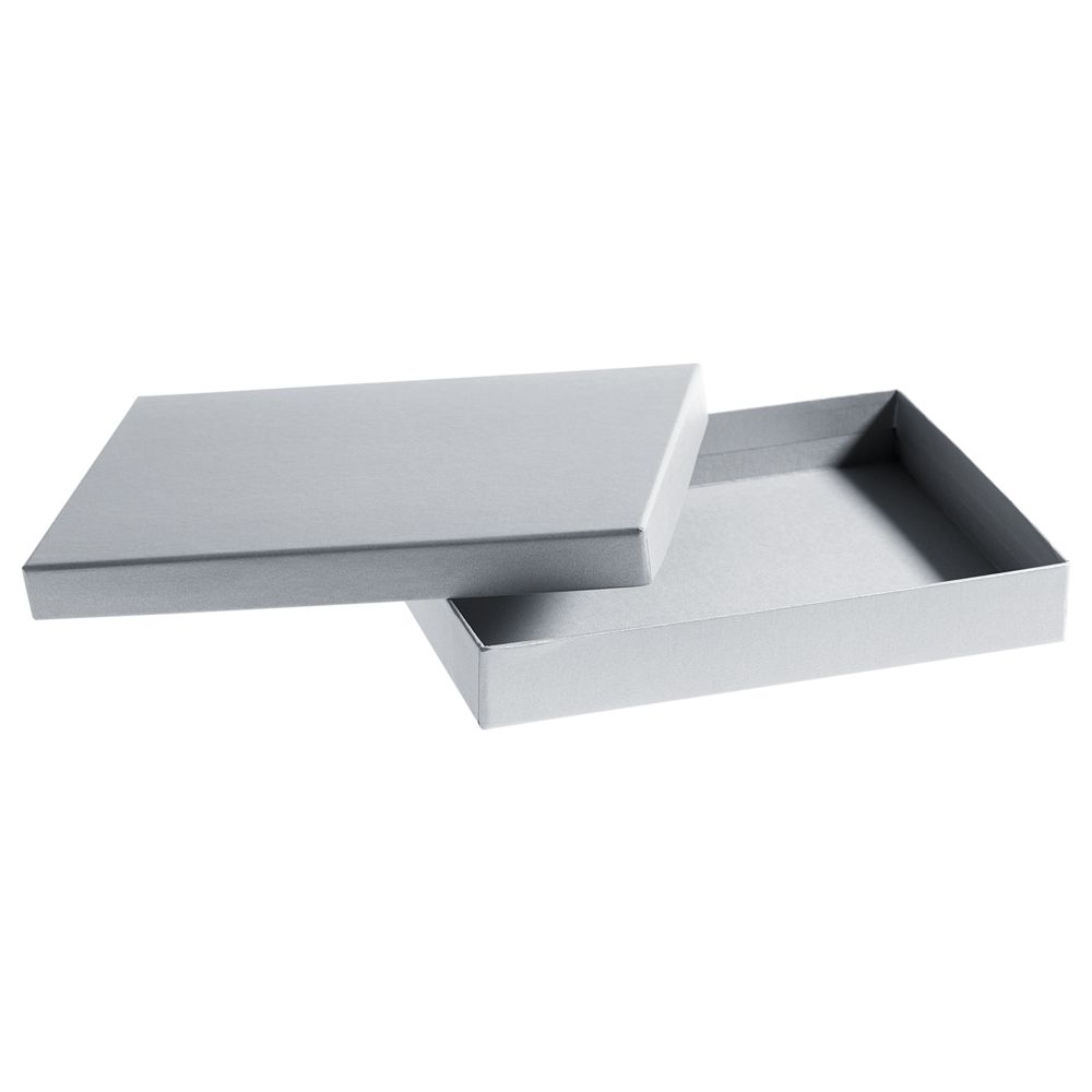 Коробка под ежедневник, серебро, , переплетный картон