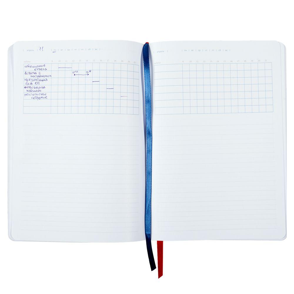 Ежедневник Control, недатированный, синий, , натуральная кожа