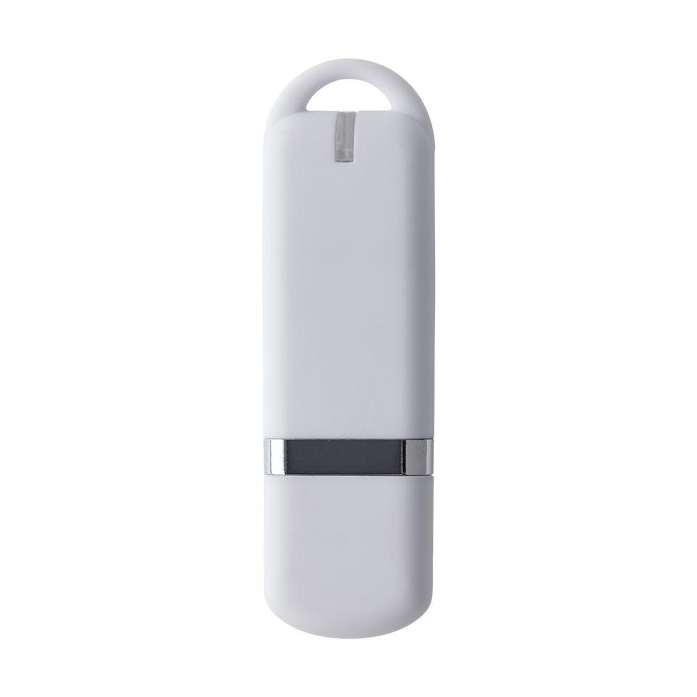 Флешка Memo, 8 Гб, белая, , пластик; покрытие софт-тач
