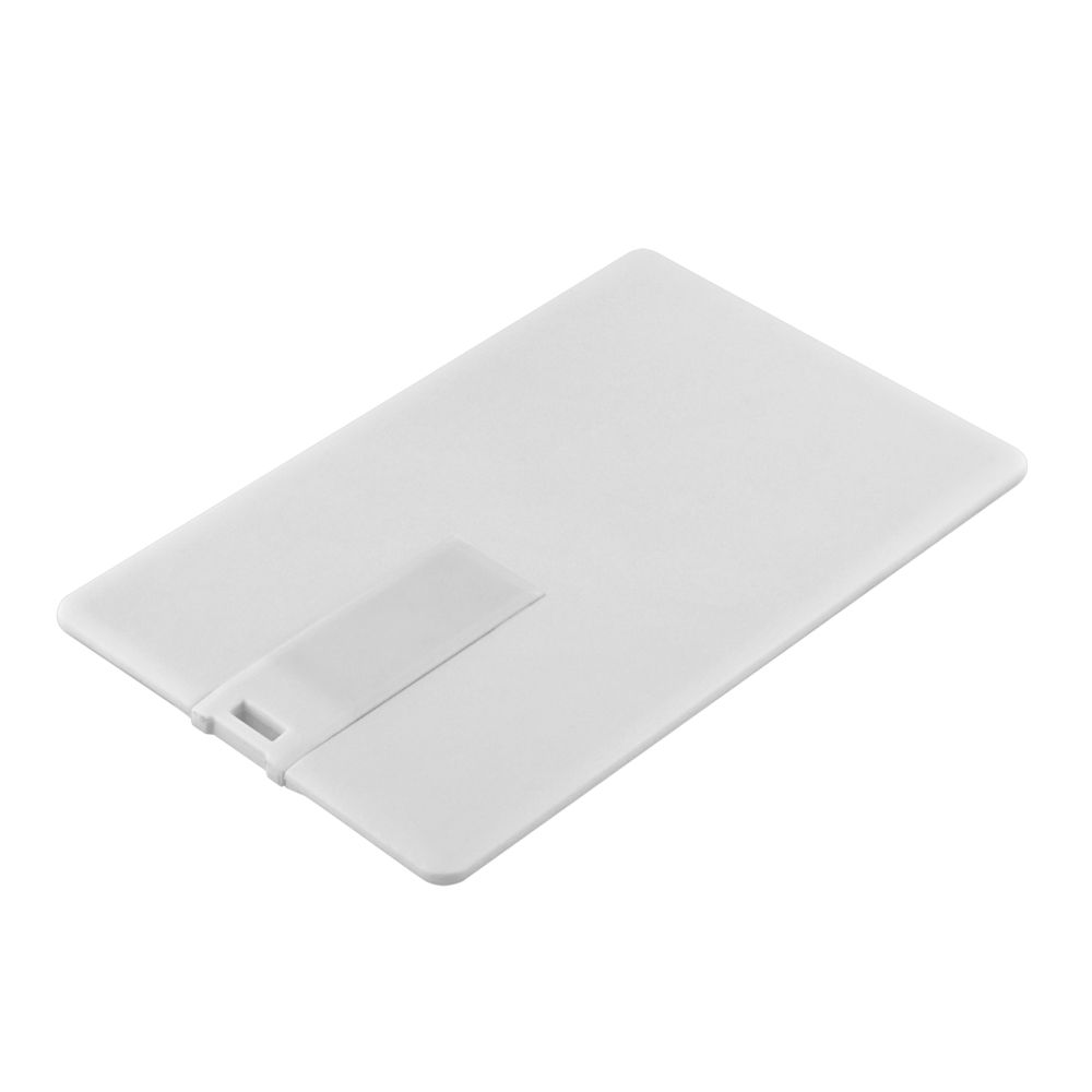 Флешка Card, 16 Гб, белая, , пластик