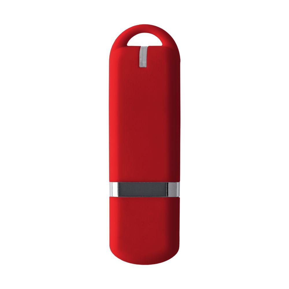 Флешка Memo, 8 Гб, красная, , пластик; покрытие софт-тач