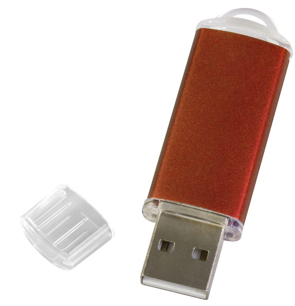 Флешка Simple, оранжевая, 8 Гб, , металл; пластик