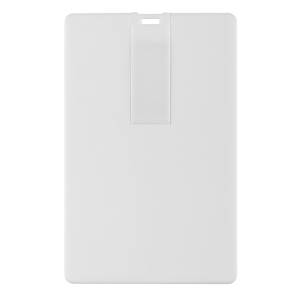 Флешка Card, 8 Гб, белая, , пластик