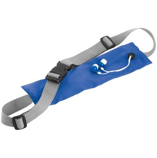 Спортивная поясная сумка On the Run, синяя, , полиэстер