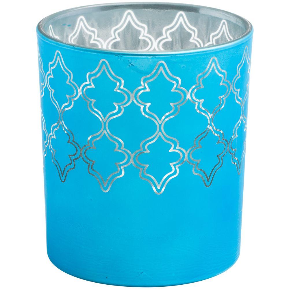 Подсвечник King, голубой, , стекло