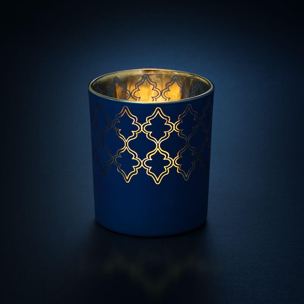 Подсвечник King, темно-синий, , стекло