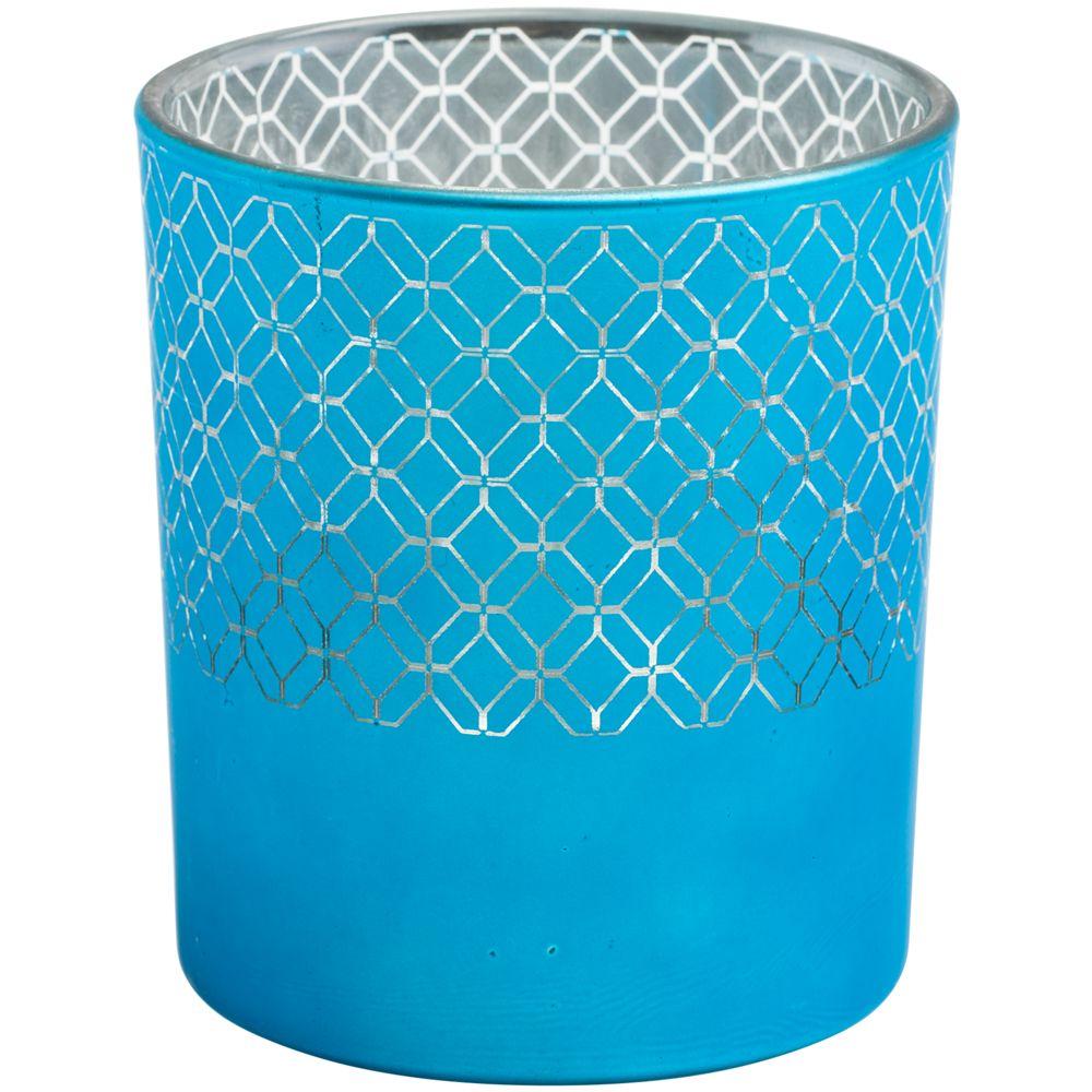 Подсвечник Queen, голубой, , стекло