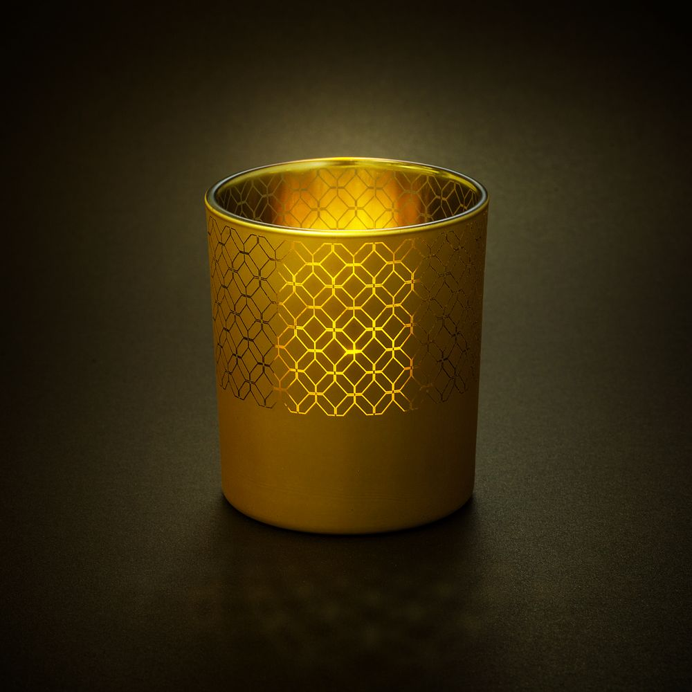 Подсвечник Queen, золотистый, , стекло