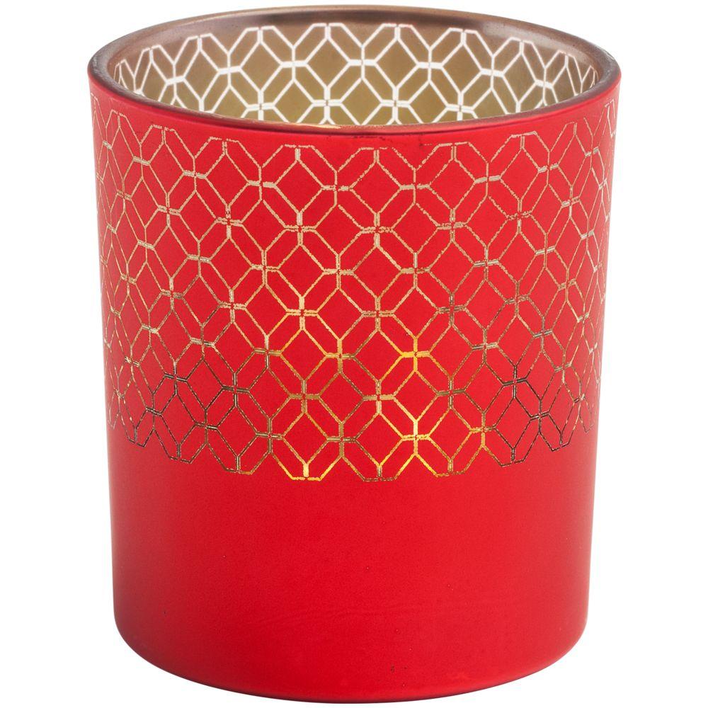 Подсвечник Queen, красный, , стекло