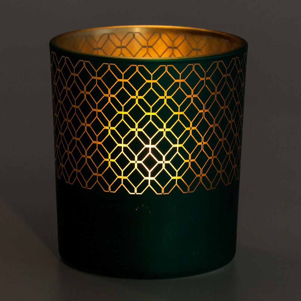 Подсвечник Queen, зеленый, , стекло