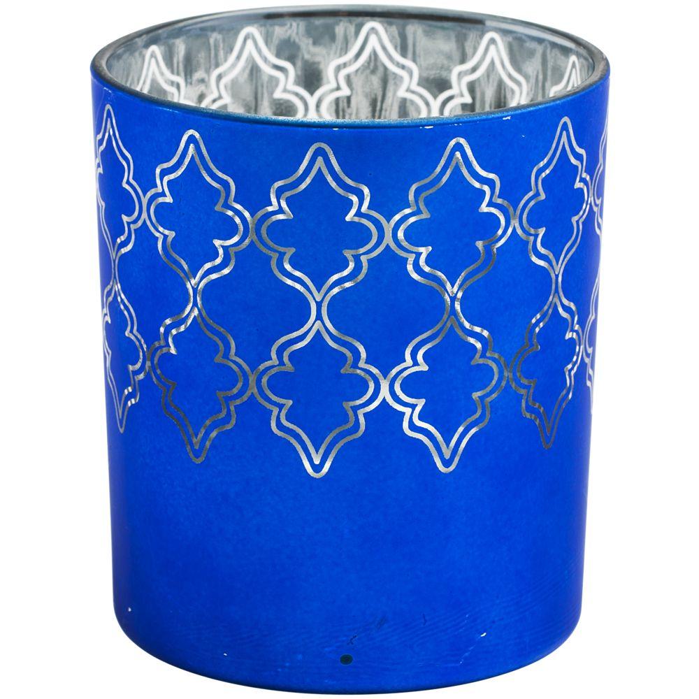 Подсвечник King, ярко-синий, , стекло