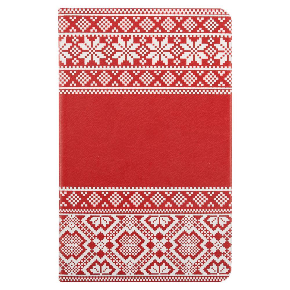 Блокнот «Скандик», красный, , искусственная кожа