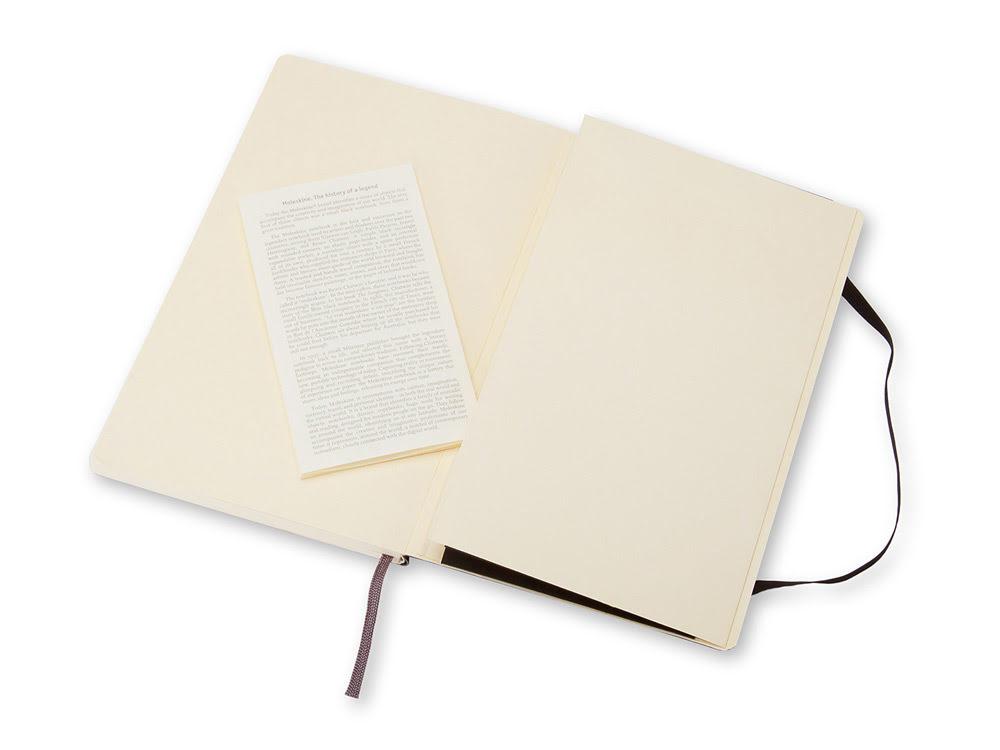 Записная книжка Moleskine Classic Soft (нелинованный), Large (13х21см), черный, черный, бумага/полиуретан