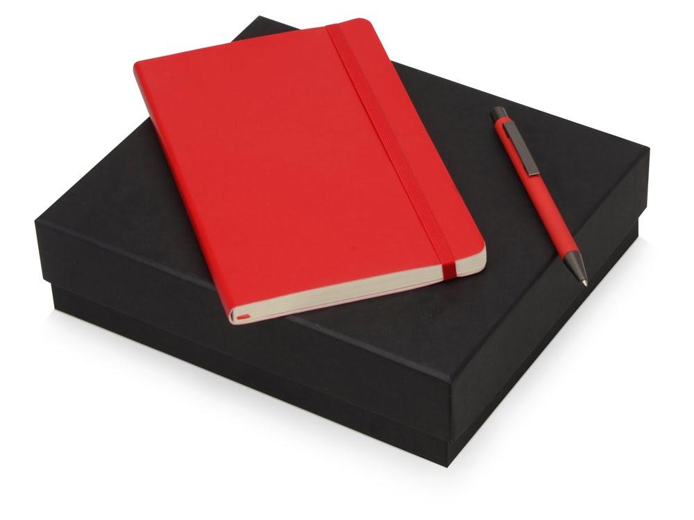 Подарочный набор Moleskine Van Gogh с блокнотом А5 и ручкой, красный, красный, бумага/полиуретан, металл