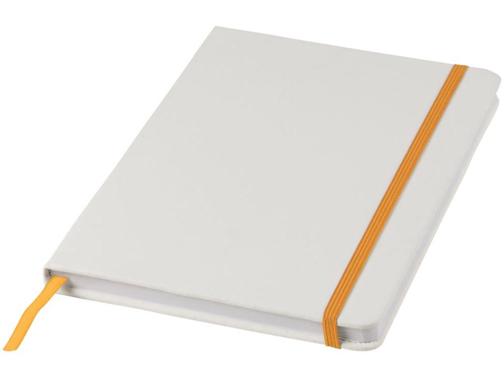 Блокнот А5 «Spectrum», белый/оранжевый, белый/оранжевый, пвх покрытый картоном