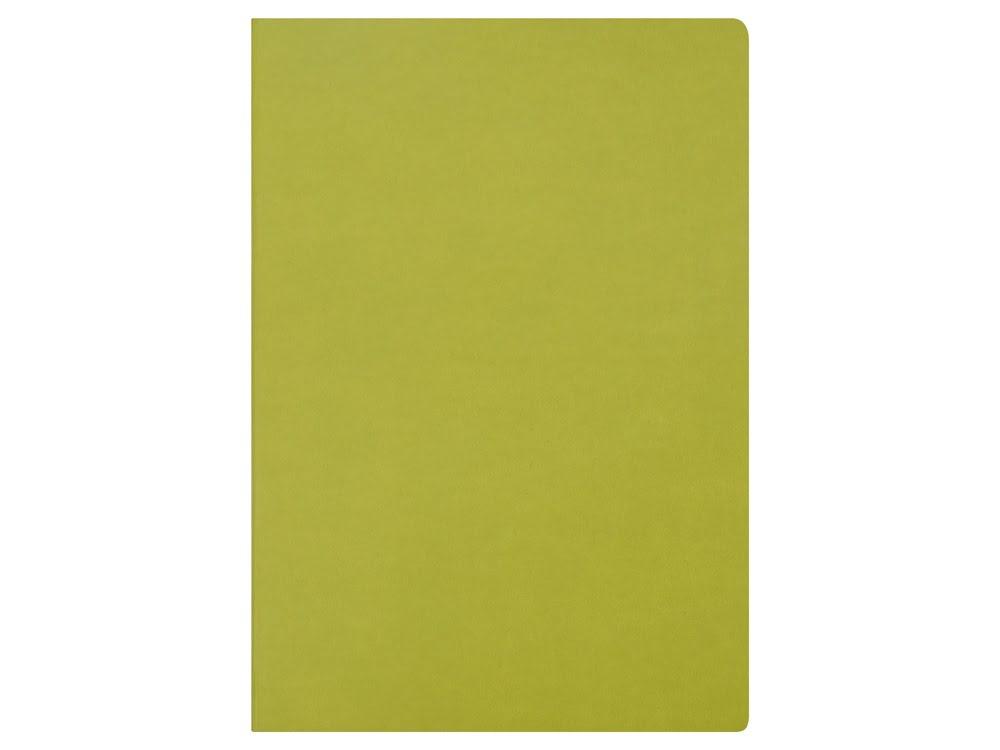 Блокнот Wispy линованный в мягкой обложке, зеленое-яблоко, зеленое яблоко, soft термо pu