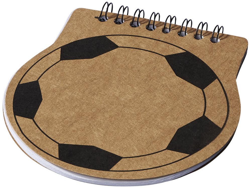 Блокнот в виде футбольной таблицы, натуральный, натуральный, бумага