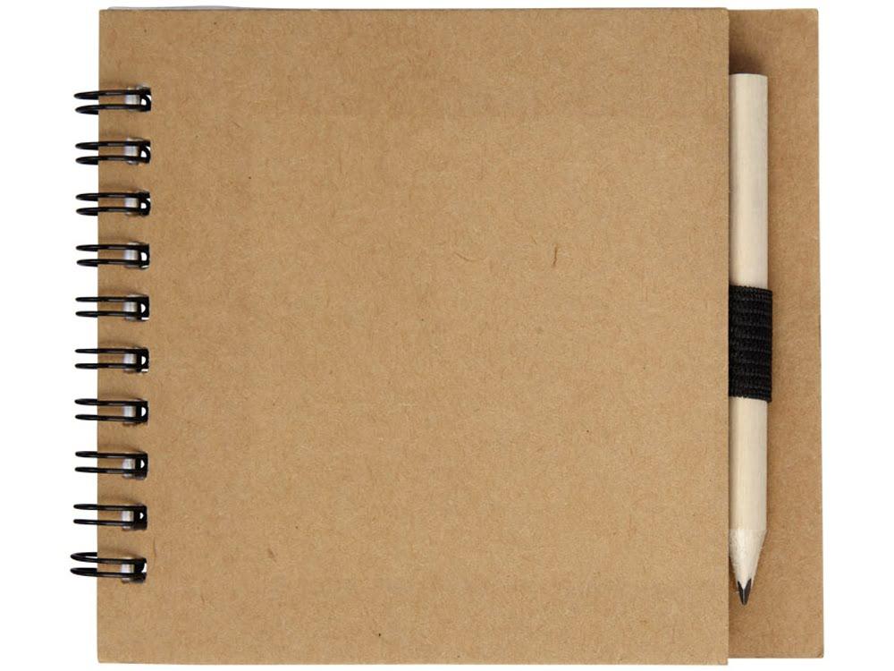 Набор для рисования 2 предмета, натуральный, коричневый, дерево, бумага