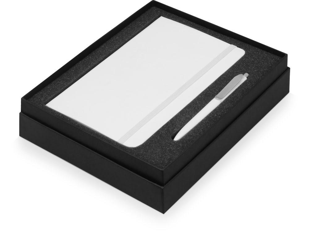 Подарочный набор Moleskine Picasso с блокнотом А5 и ручкой, белый, белый, бумага/полиуретан, пластик/металл