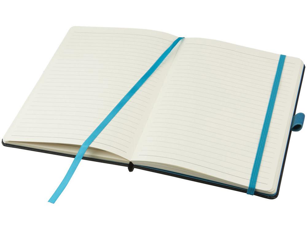 Цветной блокнот Melya, черный, черный, бумага, имитирующая кожу