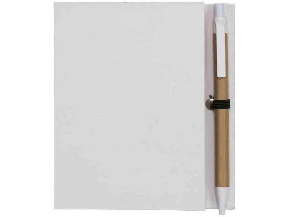 Цветной комбинированный блокнот с ручкой, белый, белый, бумага