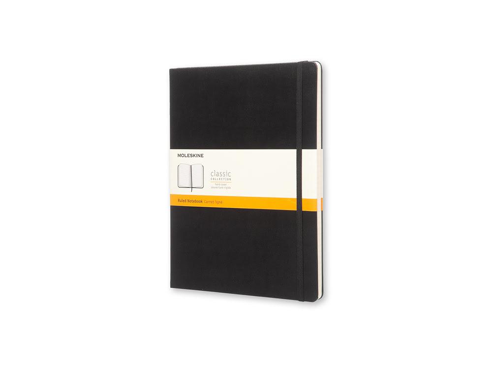 Записная книжка Moleskine Classic (в линейку), Хlarge (19х25 см), черный, черный, бумага/полиуретан