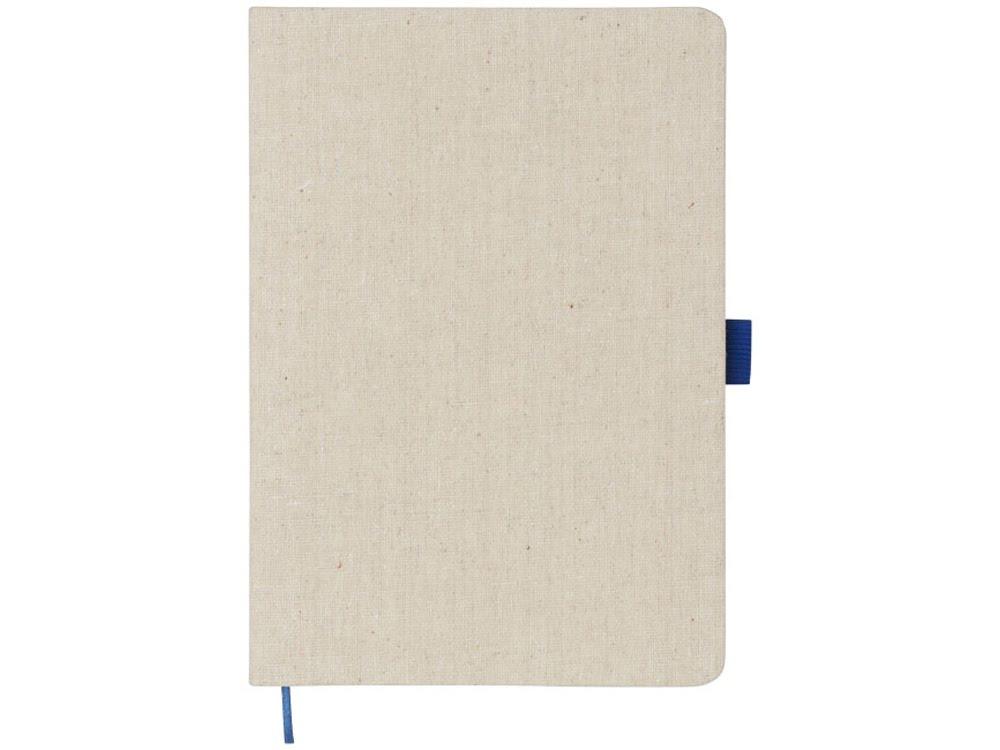 Блокнот Luna A5 Canvas, синий, натуральный/синий, хлопковый холст