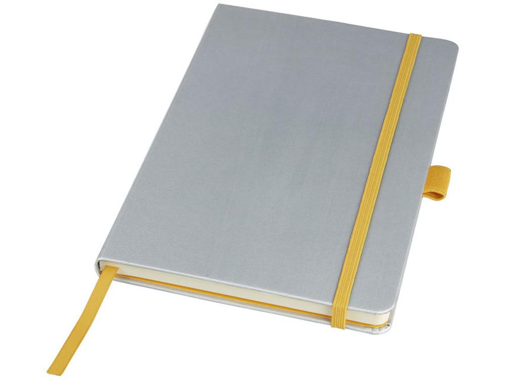 Цветной блокнот Melya, серебристый, серебристый, бумага, имитирующая кожу