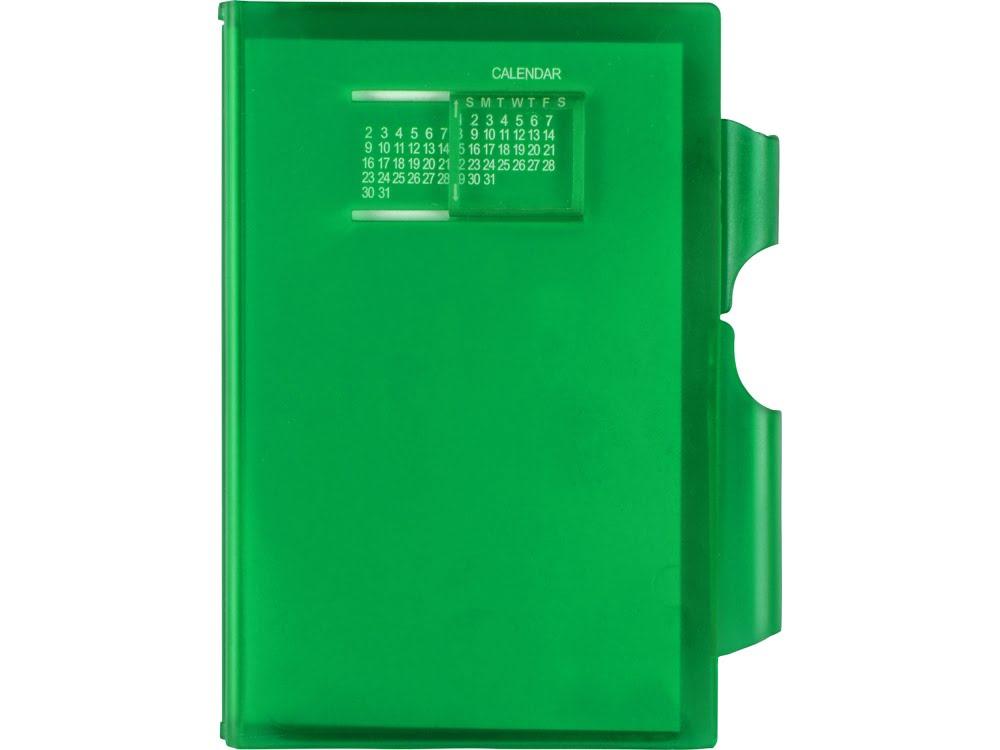 Записная книжка Альманах с ручкой, зеленый, зеленый, пластик