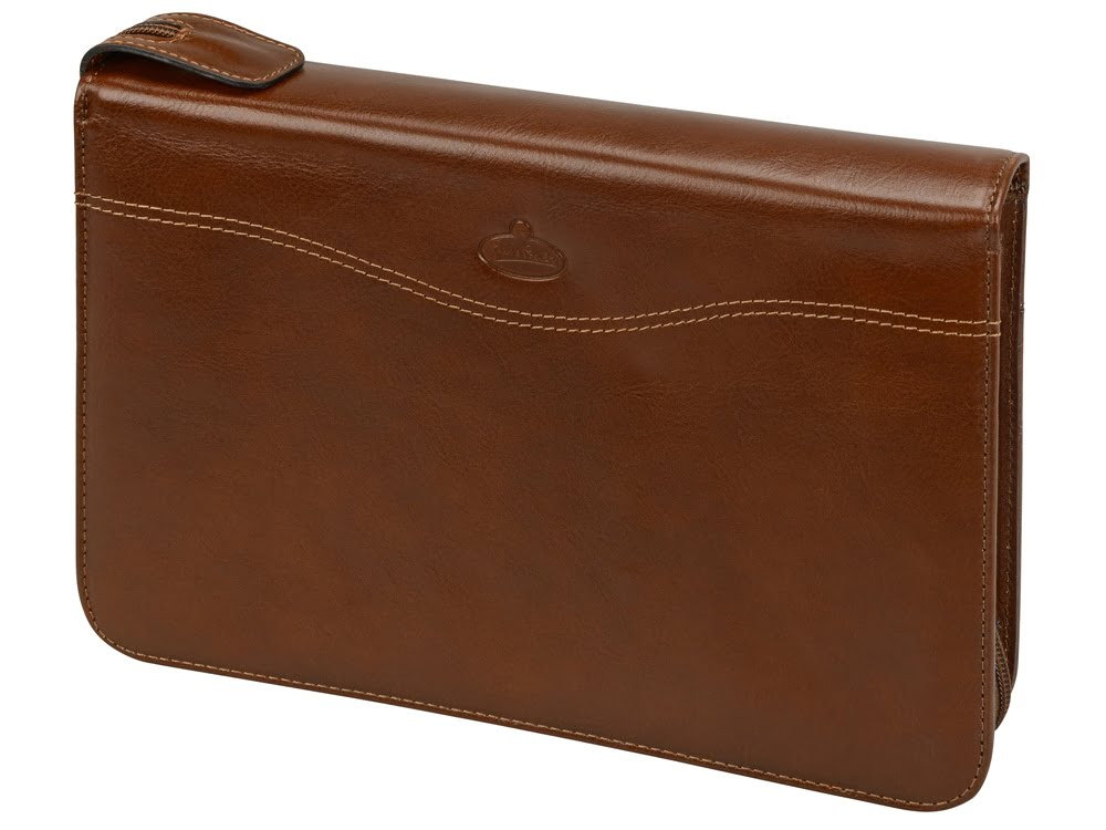 Ежедневник в папке на молнии «Первое лицо» Giulio Barсa, коричневый, коричневый, натуральная кожа