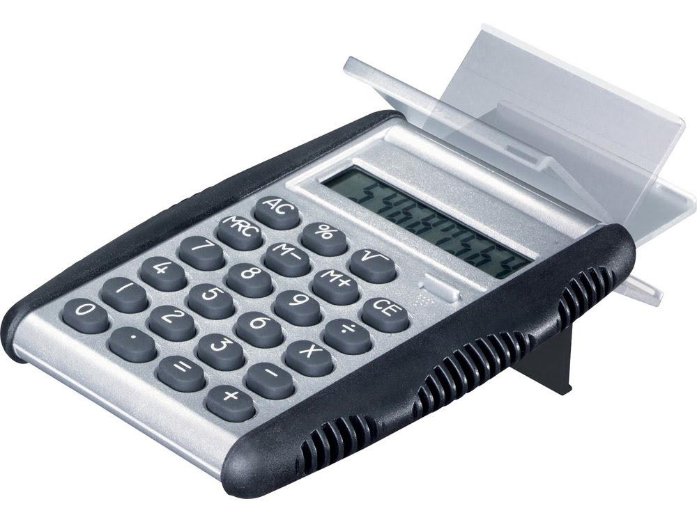 Калькулятор Magic, серебристый/черный, серебристый/черный, пластик