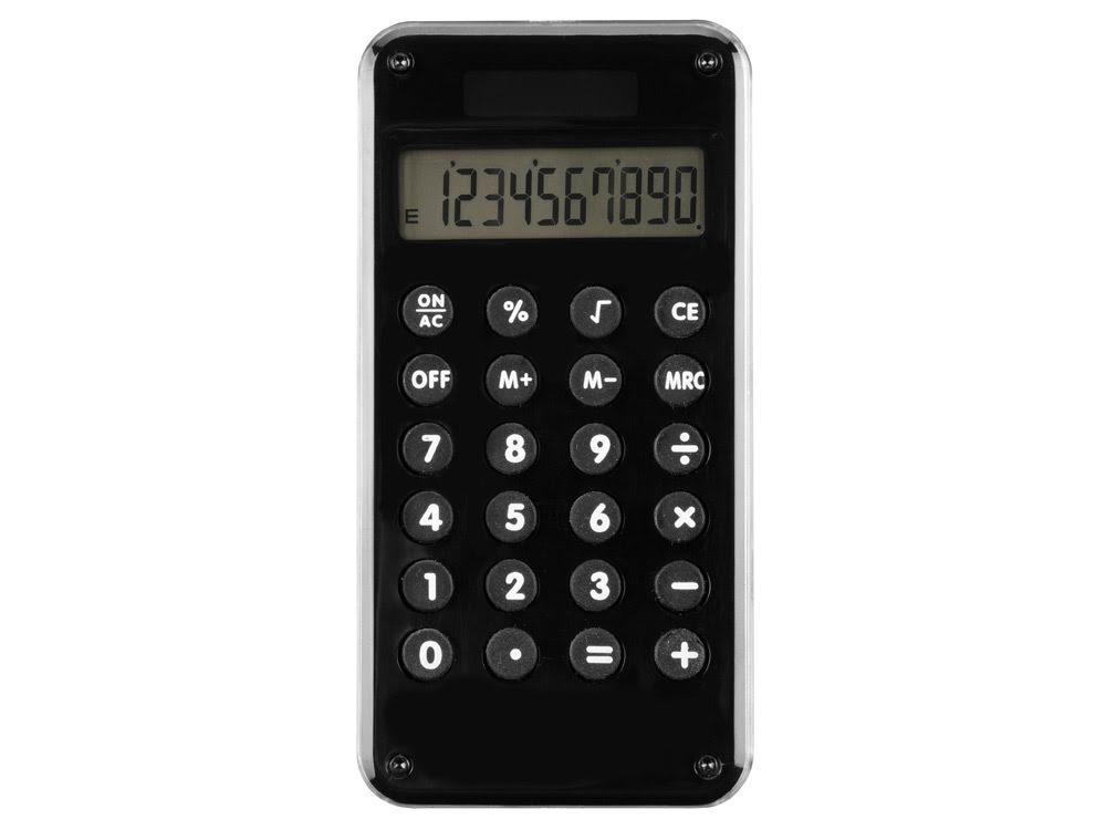 Калькулятор «Нить Ариадны», черный, черный, пластик