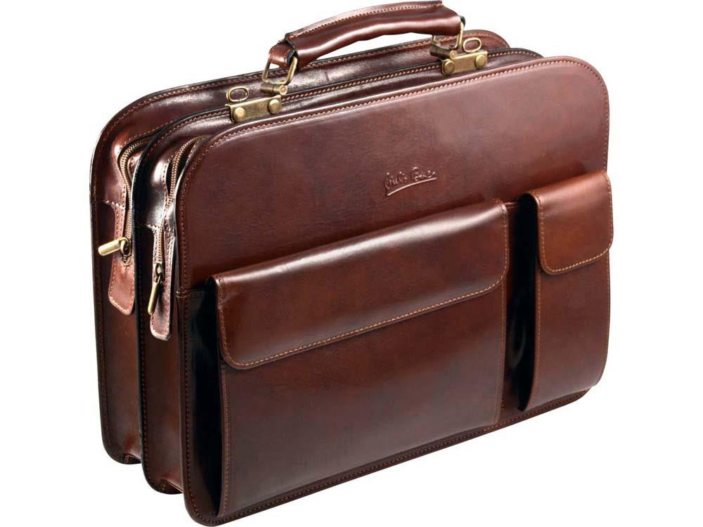 Портфель «Совершенство» Giulio Barсa, коричневый, коричневый, натуральная кожа