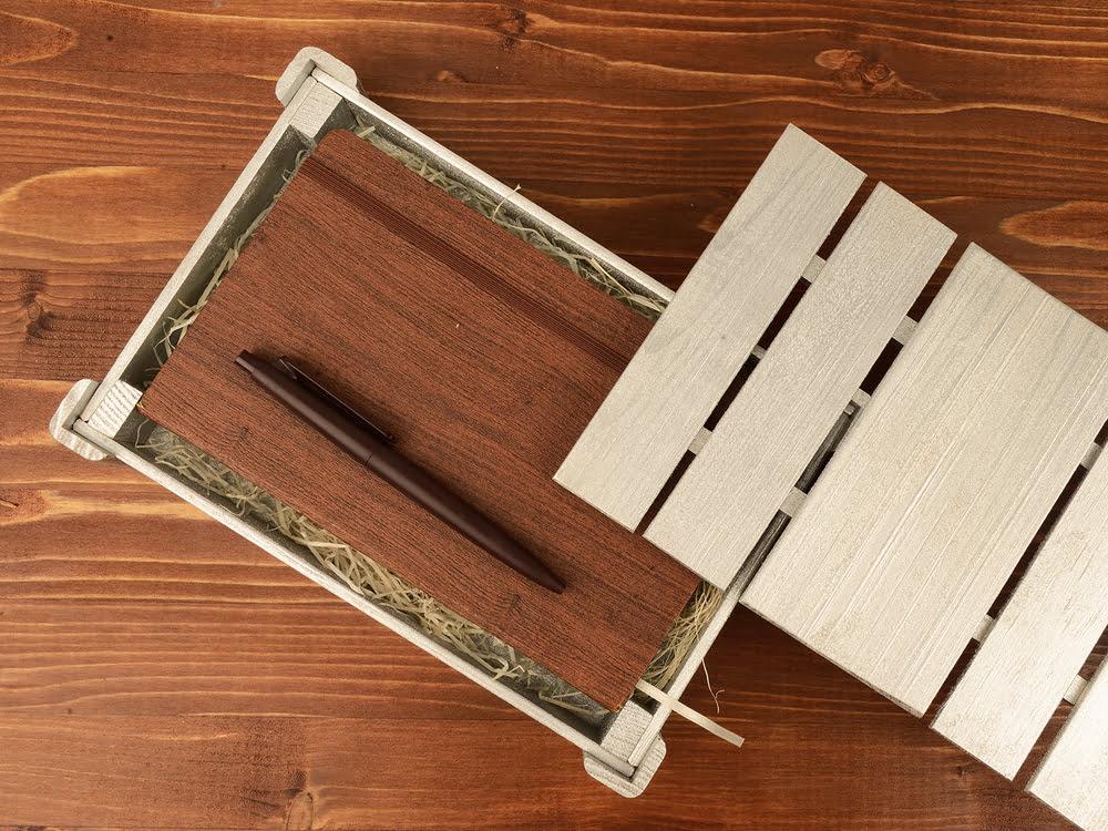 Подарочная деревянная коробка, серебристый, серебристый, дерево