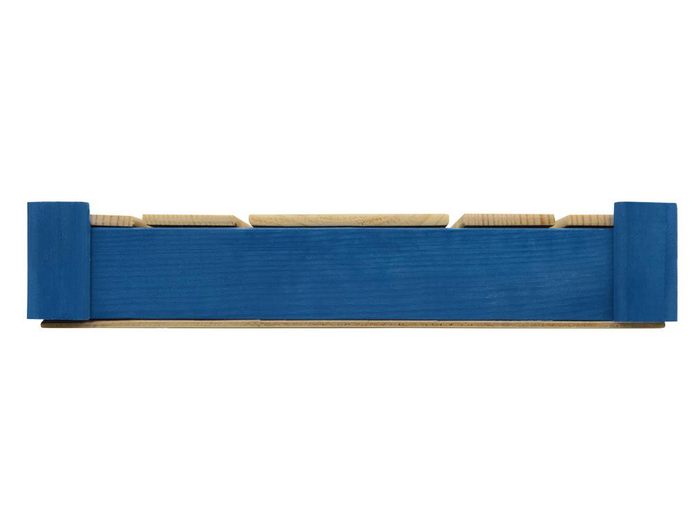 Подарочная деревянная коробка, синий, синий/натуральный, дерево